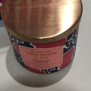 Bath & Body Works ROSEWATER and ivy 3wick candle